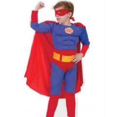 Карнавальный костюм Супермена c мускулатурой, костюм Супергероя, Snowmen, E70841