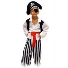 Карнавальный костюм Пирата, костюм морского разбойника, Карнавалия
