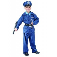 Детский карнавальный костюм Полицейского, костюм офицера Полиции, Полисмена, Snowmen
