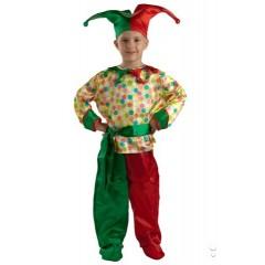 Детский Карнавальный костюм Петрушка, костюм Петрушки, Скомороха, Карнавалия