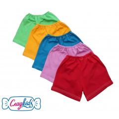 Детские шорты, однотонный кулир, 100% хлопок, 98-104 см, Сладkids, Россия