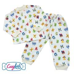 Детский костюм для ребенка 9-12 месяцев с рисунком, 74-80 см, 100% хлопок, Сладkids, Россия