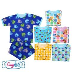 Детский комплект футболка и шорты с рисунком, 100% хлопок, MK22138