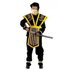 Карнавальный костюм Мастер Ниндзя в желтом, желтый Ниндзя, Батик