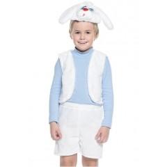 Новогодний костюм белого Зайчика, костюм Зайца, костюм белого зайки, костюм зайчонка, костюм зайца, Остров Игрушки