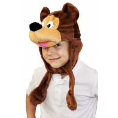 Детская карнавальная шапка Медвежонок Бурый, шапка Бурого Медведя, Остров Игрушки, Россия-Беларусь