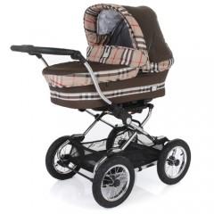 Детская классическая коляска для новорожденных Baby Care Sonata, цвета Coffee и Dark Grey