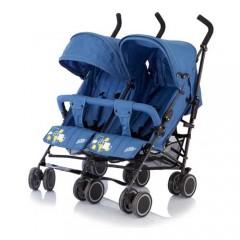 Детская коляска-трость для двойни Baby Care City Twin, цвета голубой, красный, хаки