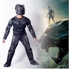 Карнавальный костюм Черная Пантера с мускулатурой, Black Panther, MK11012