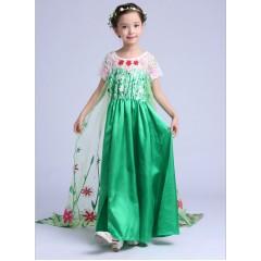 Платье Эльзы из мультфильма Холодное торжество, зеленое, МК11030