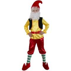 Карнавальный костюм Гном, костюм Гномика, серия Карнавалия, рост 128-134 см