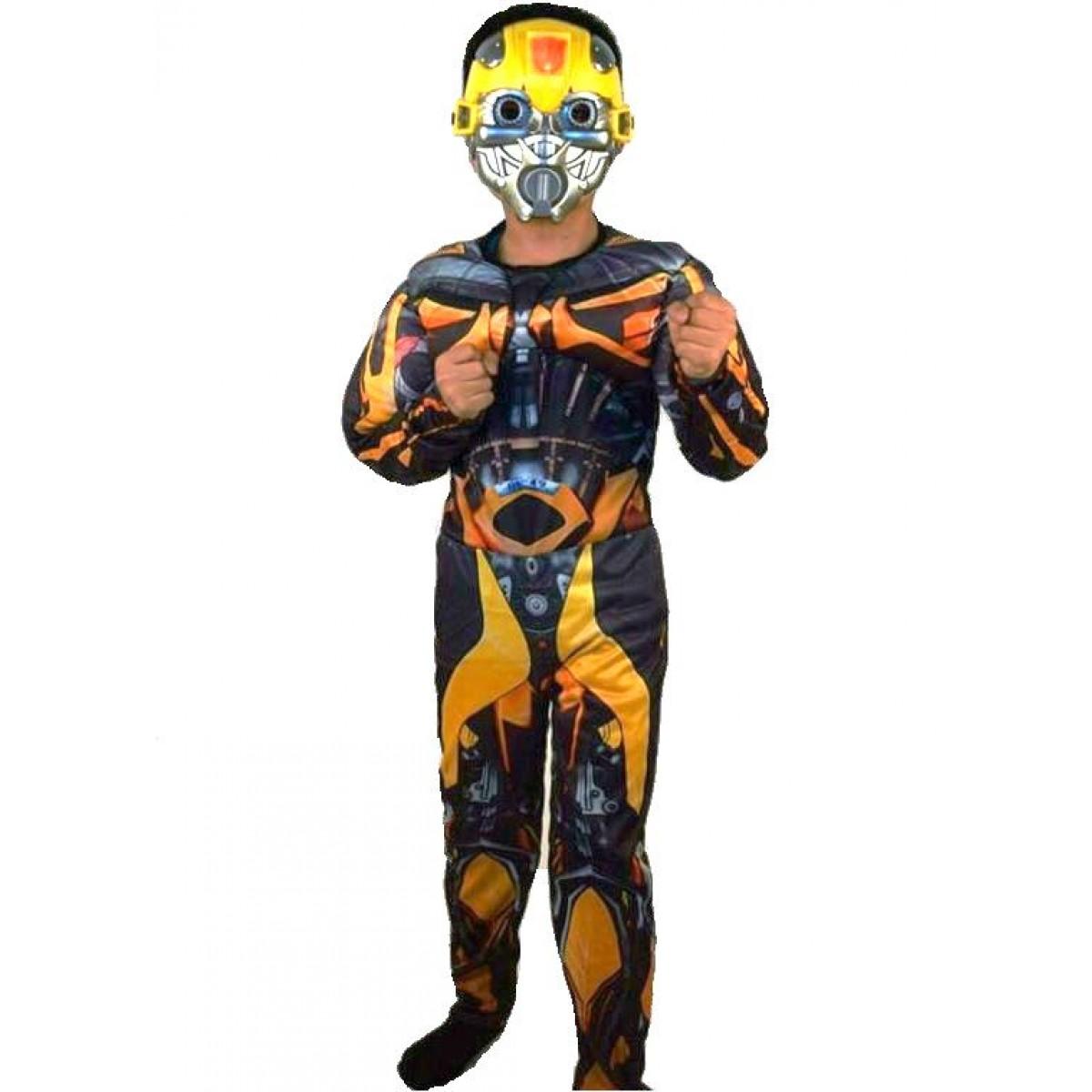 Костюм Бамблби Bumblebee с мускулатурой, Transformers,  костюм трансформера