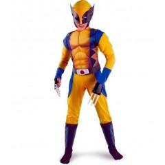 Карнавальный костюм Росомаха, Wolverine с мускулатурой, Люди Икс, MK11062