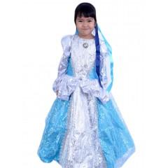 Карнавальный костюм Принцесса голубая, МК11051