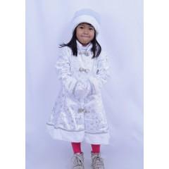 Детский костюм Снегурочки, белый, МК11049