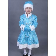 Карнавальный костюм Снегурочки для девочки, голубой, МК11050