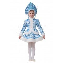 Детский карнавальный костюм Снегурочка Гжель, MK1515, Jeanees