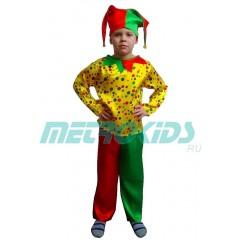 Детский карнавальный костюм Петрушка в горошек, МК11055