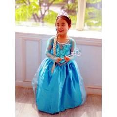 Карнавальное платье Эльзы с пышной юбкой, MK11029
