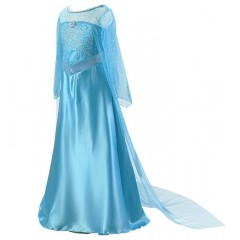 Платье Эльзы из Холодного Сердца с длинным шлейфом, МК11028