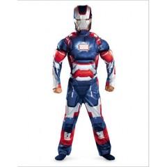 Карнавальный костюм Железный человек  Патриот с мускулатурой, Iron Man 3