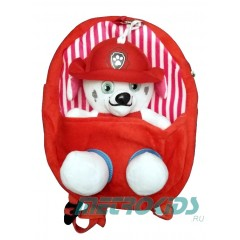Детский рюкзак с игрушкой  Маршал, Щенячий Патруль, Marshall, Paw Patrol, MK11097