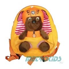 Детский рюкзак с игрушкой Зума, Щенячий Патруль, Zuma, Paw Patrol. MK11098