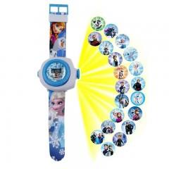 Детские часы с проектором Эльза, Холодное Сердце, MK11104
