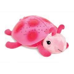Светильник-проектор звездного неба розовая Звездная Божья коровка, CloudB